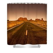The Road To Monument Valley -utah  Shower Curtain