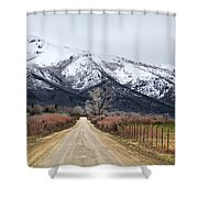 The Road To Soldier Creek Shower Curtain