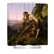 The Robber And His Child Shower Curtain