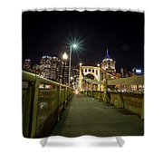 The Roberto Clemente Bridge Shower Curtain