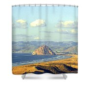 The Rock At Morro Bay Shower Curtain