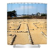 The Rock Maze Santa Barbara Shower Curtain