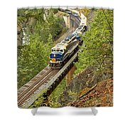 The Rocky Mountaineer Above The Cheakamus River Shower Curtain