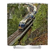 The Rocky Mountaineer Shower Curtain
