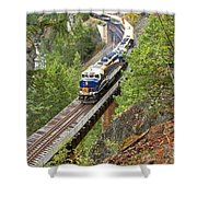 The Rocky Mountaineer Railroad Shower Curtain
