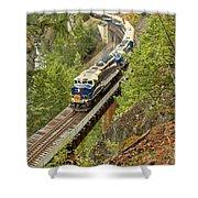 The Rocky Mountaineer Train Shower Curtain