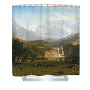The Rocky Mountains Landers Peak Shower Curtain