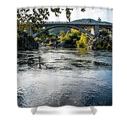 The Rogue River At Gold Hill Bridge Shower Curtain