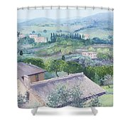 The Rolling Hills Of Tuscany Shower Curtain