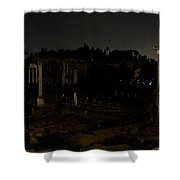 The Roman Forum At Night Shower Curtain