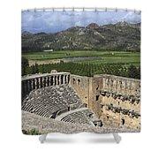 The Roman Theatre In Aspendos Antalya Turkey  Shower Curtain