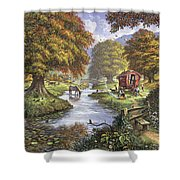 The Romany Camp Shower Curtain