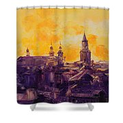 The Roofs Of Lublin Shower Curtain