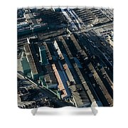 The Rooftops Of Arcelormittal Dofasco Shower Curtain