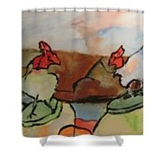 The Roosters Shower Curtain