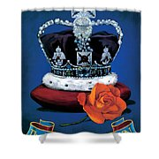 The Rose & Crown Shower Curtain
