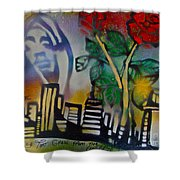 The Rose From The Concrete Gold Shower Curtain