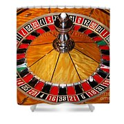 The Roulette Wheel Shower Curtain