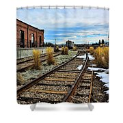 The Roundhouse Evanston Wyoming - 5 Shower Curtain