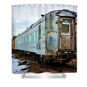 The Roundhouse Evanston Wyoming Dining Car - 1 Shower Curtain