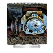 The Roundhouse Evanston Wyoming Dining Car - 3 Shower Curtain