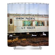 The Roundhouse Evanston Wyoming Dining Car - 5 Shower Curtain