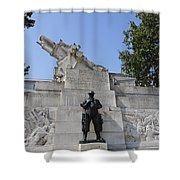 The Royal Artillery War Memorial By Charles Sargeant Jagger And Lionel Pearson In London England Shower Curtain
