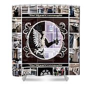 The Royal Connaught Crest Photo Collage Shower Curtain