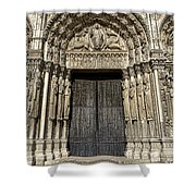 The Royal Portal At Chartres Shower Curtain