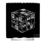 The Rubik's Cube Shower Curtain