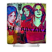 The Runaways - Up Close Shower Curtain