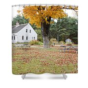 The Russell-colbath Historic Homestead - Albany New Hampshire Shower Curtain