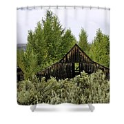 The Rustic Barn Shower Curtain