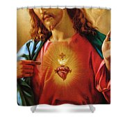 The Sacred Heart Of Jesus Shower Curtain