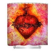 The Sacred Heart Of Jesus Christ Shower Curtain