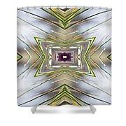 The Sacred Pine Mandala Yantra Shower Curtain