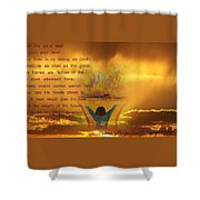 The Sacrifice Of Praise Shower Curtain