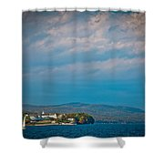 The Sagamore Hotel On Beautiful Lake George Shower Curtain