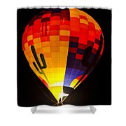 The Saguaro Balloon  Shower Curtain