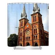 The Saigon Notre-dame Basilica Shower Curtain