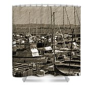 The Sailing Pier Shower Curtain