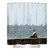 The Sailor With No Boat Shower Curtain