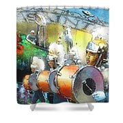 The Saints Parade In New Orleans 2010 01 Shower Curtain