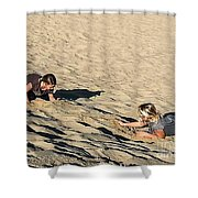 The Sand Land Shower Curtain