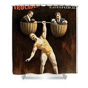 The Sandow Shower Curtain by Aged Pixel