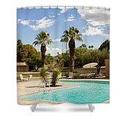 The Sandpiper Pool Palm Desert Shower Curtain