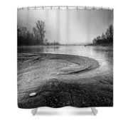 The Sands Of Time Shower Curtain by Davorin Mance