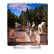 The Satutues Of Archangelskoe Palace. Russia Shower Curtain