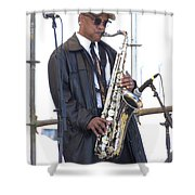 The Saxophone Player Shower Curtain