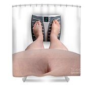 The Scale Says Series Ur Fat Shower Curtain